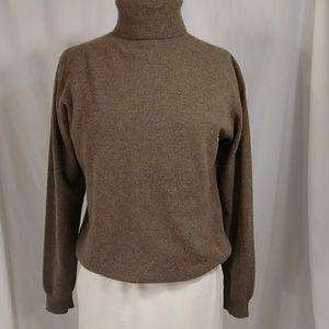 Cashmere Turtleneck Sweater Neutral Heather Celest